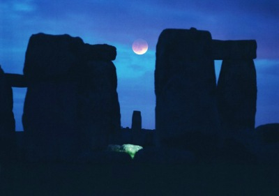 A Lunar Eclipse at Stonehenge
